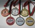 медали първо, второ и трето място