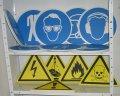 предупредителни табели и знаци за охрана на труда