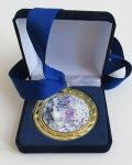 медал в плюшена кутия с посвещение